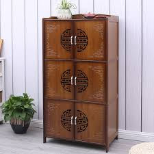 solid wood storage cabinets. Plain Storage Microwave Oven Rack Kitchen Racks Floor Solid Wood Storage Cabinets  Ornaments Accessories Home Decoration To G