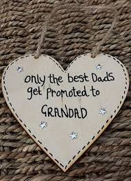 personalised handmade fathers day wooden heart gift dad grandad daddy gran