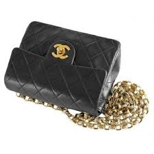 Chanel Vintage Black Quilted Lambskin Classic Mini Flap Bag ... & Chanel Vintage Black Quilted Lambskin Classic Mini Flap Bag w/ Gold Chain Adamdwight.com