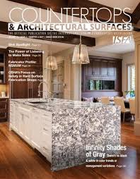 Integra Glue Chart Silestone Isfas Countertops Architectural Surfaces Vol 10 Issue 4