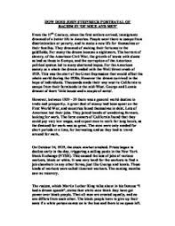 how doe john steinbeck portray racism in of mice and men gcse  page 1 zoom in