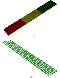 fe model of typical multiple i girder bridge a concrete slab