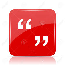 Quotation Marks Icon. Quotation Marks Website Button On White ...