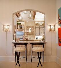 wall accent lighting. Astonishing Wall Cutout Kitchen Contemporary With Raised Counter Sunburst Mirror Accent Lighting