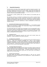 executive business plan template startup business plan template elemental depict examples tech one