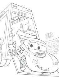 cars disney coloring pages lighting came out from trailer in cars coloring cars 2 disney coloring cars disney coloring pages