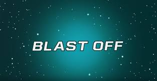 blast off logo. blast off logo