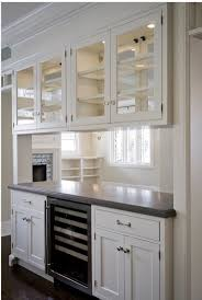 ... See Through Wall Shelves White Stained Wooden Shelf And Cabinet  Contemporary Kitchen Benjamin Moore Lookout Point ...