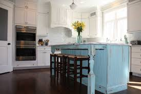 Shabby chic kitchen island with blue color ideas