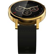 moto watch men. moto 360 men\u0027s 2nd gen smartwatch 46mm gold with leather band watch men