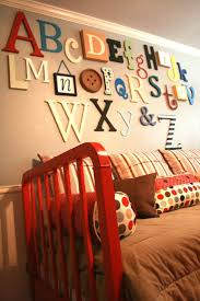 alphabet wall from