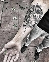 Sketch Style Lion By Inez Janiak Tattoos On Men Tattoo