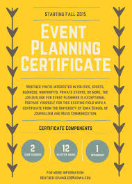 Event Planning Certificate New Event Planning Certificate School of Journalism and Mass 1