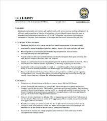 golf professional resume golf professional cover letter prepare professional resume online