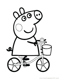 Pig Birthday Party Coloring Pages 2 Page Free Colouring Peppa
