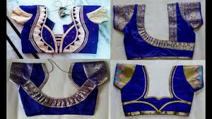 Blue Color Saree Blouse Designs Top 30 Blue Colour Silk Patch Work Blouse Designs