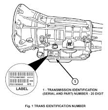 jeep grand cherokee wk technical service bulletins the transmission build date can be determined by inspection of the 20 digit transmission identification number dddyxxxxxppartnumber