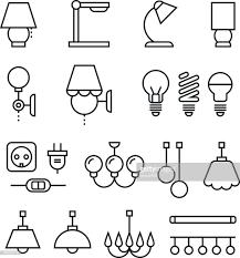 Lampe Lampen Kronleuchter Und Elektrogeräten Dünne Linie