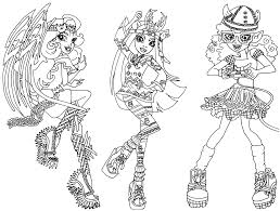 Small Picture Awesome Monster High Coloring Pages Contemporary Coloring Page