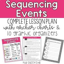 Sequence Of Events Anchor Chart Sequencing Events Complete Lesson Plan Anchor Charts 10 Graphic Organizers