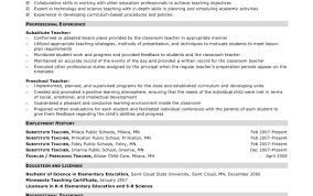 Elementary Teacher Resume Template Interesting Elementary Teacher Resume Sle Sles For Teaching Resumes Examples
