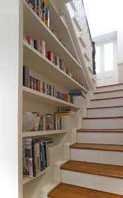 Lovely Book Shelf decorating ideas for Exquisite Staircase Traditional  design ideas with books bookshelf staircase built