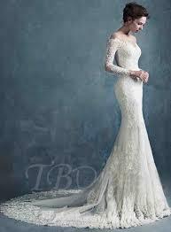 long sleeve mermaid wedding dresses. long sleeves lace mermaid wedding dress · see larger imagesee sleeve dresses tbdress.com