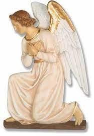 angel wall plaque hands crossed garden