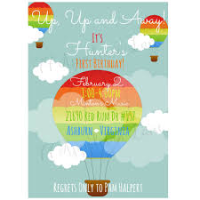 Balloon Birthday Invitations Up Up Away Hot Air Balloon Birthday Invitation 77 Appaloosa
