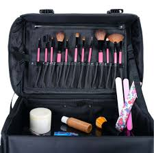 brush eye brow source soft makeup artist rolling trolley cosmetic case with free set of