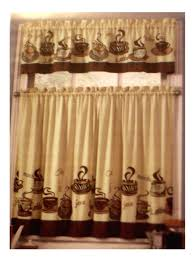For Kitchen Curtains Coffee Themed Kitchen Curtains Tiers Valance Set Complete Curtains