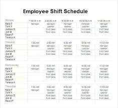 Employee Schedule Maker Excel Free League Pool Template 8
