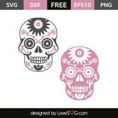 Free svg files for sizzix, sure cuts a lot and other compatible die cutting machines and software.no purchased needed. Sugar Skulls 4273 Lovesvg Com Cricut Crafts Skull Silhouette Free Svg