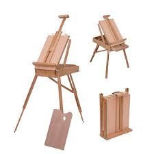 1500x1500 homcom wooden art easel tripod sketch artist painters craft