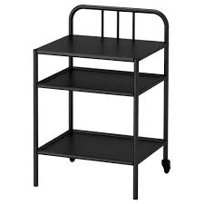 black furniture ikea. ikea fyresdal bedside table easy to move since the has castors black furniture ikea