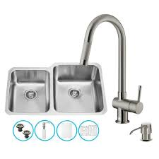 stainless steel all in one undermount kitchen sink faucet set 32 inch type vg15320 by