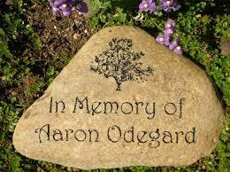 medium engraved river rock memorial