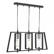 dax stylish ceiling bar pendant light in chrome and black finish dax0350