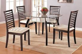 Small Glass Kitchen Table Glass Top Dining Tables With Wood Base Beige Hardwood Laminate