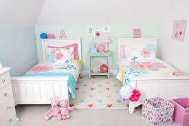 twin beds for girls room. Delighful Room Two Sets Of Single Bed With Higher Headboard For Little Twin Girls A Light  Blue Console On Twin Beds For Girls Room O
