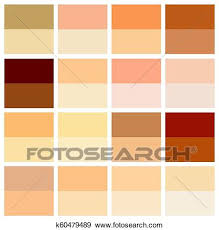 Skin Complexion Color Chart Skin Tone Color Chart Human Skin Texture Color Infographic