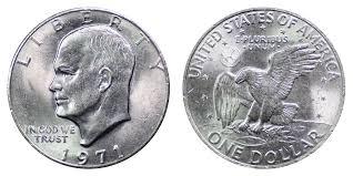 1971 Eisenhower Dollar Coin Value Prices Photos Info