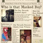 Lovely Superhero Newspaper Invitation Template Free Printable Trend ...