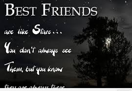 amazing best friend stars quote with wallpaper hd