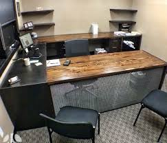 reclaimed wood home office furniture wooden global pertaining to desk idea 1