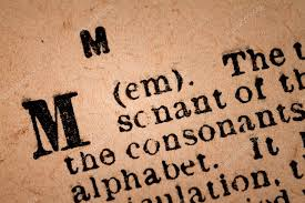 close up of a m the 13th letter of the latin alphabet 图库