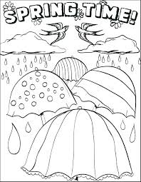 Free Coloring Pages Springtime