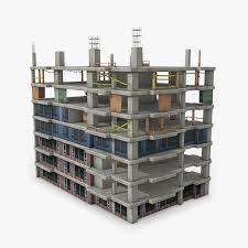 Building Construction 2 3d Asset Cgtrader