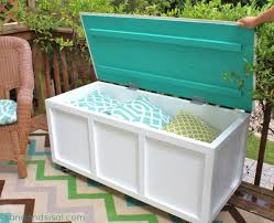 diy wood deck box. diy outdoor storage box / bench diy wood deck