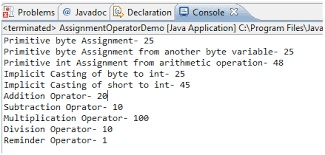 java assignment operators wresource assignment operator image 4